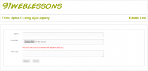 Upload Form using Ajax Jquery