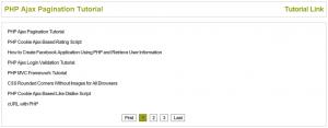 PHP Ajax Pagination Tutorial