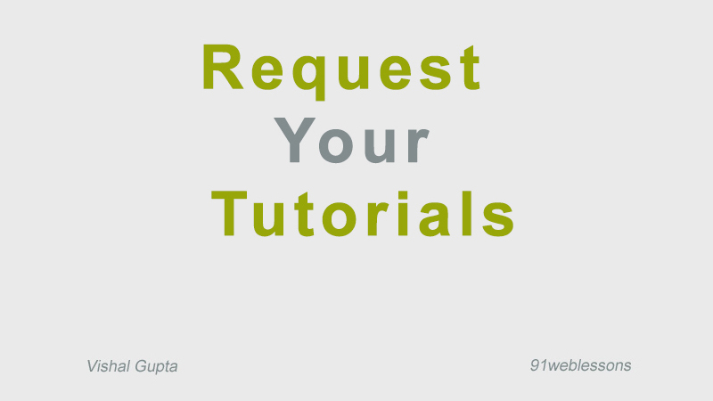 Request--Your-Tutorials