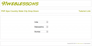 PHP Ajax Country State City Drop Down