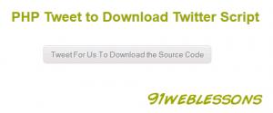 PHP Tweet to Download Twitter Script