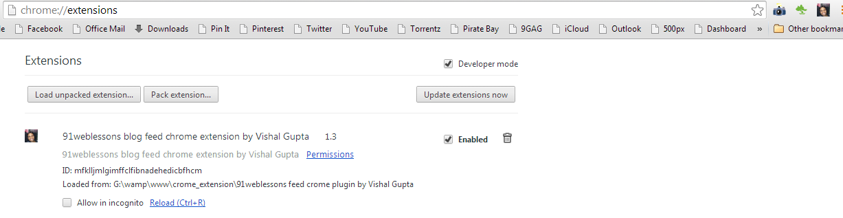 Chrome extension development tutorial - Part 1 by Vishal Gupta